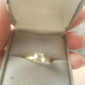 14k gold tourmaline solitaire ring